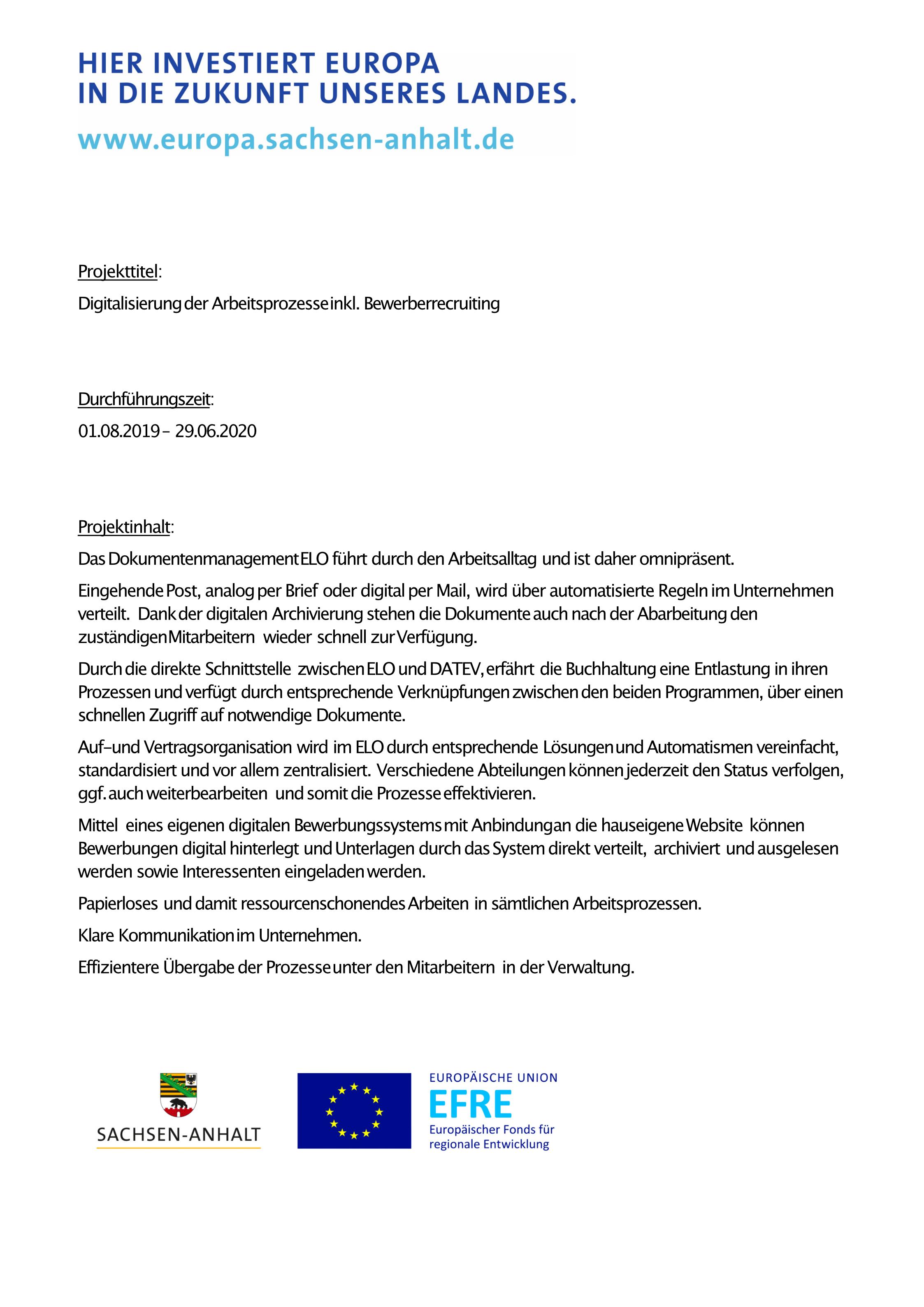Investitionsbank Sachsen-Anhalt A3 Plakat - Projekt